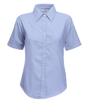 65-000-0 - LADY-FIT SHORT SLEEVE OXFORD SHIRT