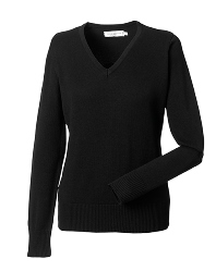 R-710F-0 - LADIES' V-NECK KNITTED PULLOVER