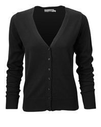 R-715F-0 - LADIES' V-NECK KNITTED CARDIGAN