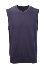 R-716M-0 - V-NECK SLEEVELESS KNITTED PULLOVER