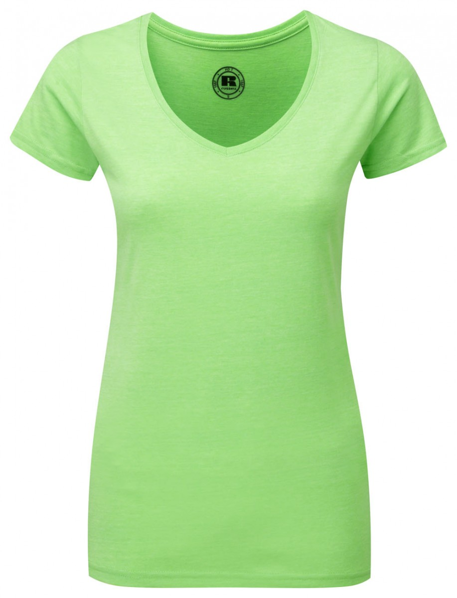 R-166F-0 - LADIES' V-NECK HD T